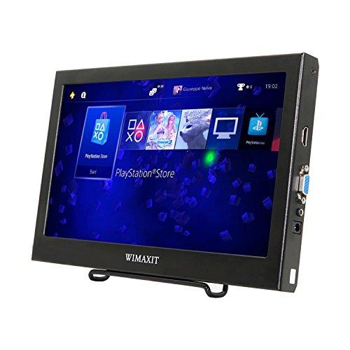 WIMAXIT 11.6インチIPS モニター ポータブルモニター1920x1080 HDMI VGA 小型モニター ゲームモニター 携帯型ディスプレイ Raspberry Pi B+/2B/3B WiiU Xbox 360/PS4/Win 7/8/10用対応 スピーカ内蔵 PCモニター