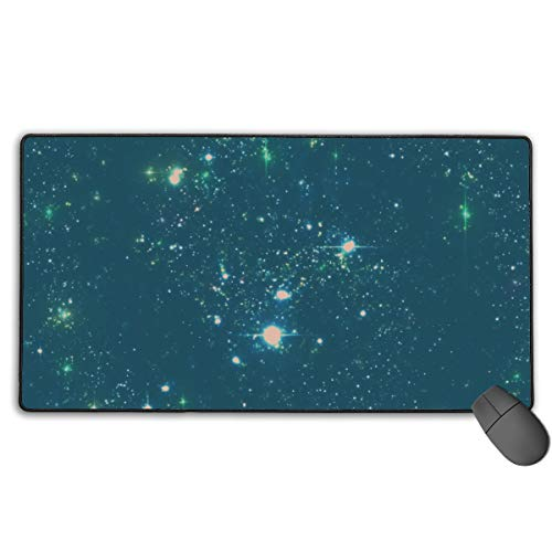 Best Laptop Pc Mouse Pad with Stitched Edges Long Big Waterproof Mouse Mat Galaxy Starry Sky Decorative Gaming Mousepad for Kids Gamer Travel