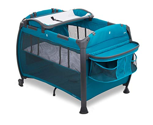 Joovy Room-Playard, Nursery Center, Bassinet, Changing-Table, Turquoise