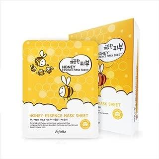Esfolio Pure Skin Essence Full Facial Mask Sheet Nourishment Hydration Age-Defying Botanicals Honey (Pack of 10)