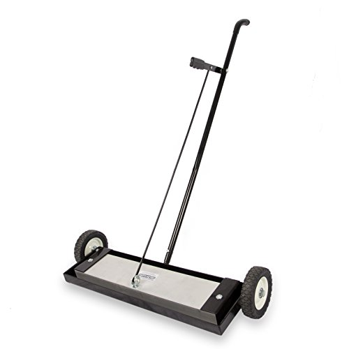 Master Magnetics Magnetic Sweeper Heavy Duty Push-Type with Release, 24' Sweeping Width, 1 each, Part No. MFSM24RX
