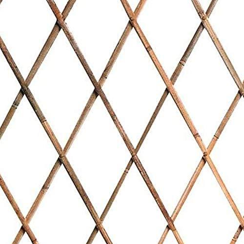 Traliccio Rete bambù Bamboo 180 x 120 cm Estensibile Bamboo Piante Rampicanti Colore Legno Naturale