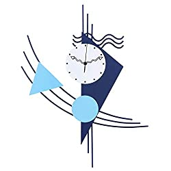 BJL Wall Clock, Clock, Metal Mediterranean Style Wall Clock, Simple Living Room, Children's Room, Cartoon Decorative Clock Modern Wall Clock (Color : A)