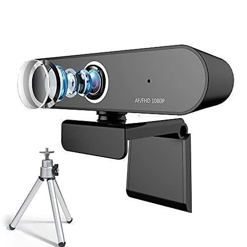 FUVISION Webcam with Microphone 1080p Stream Webcam