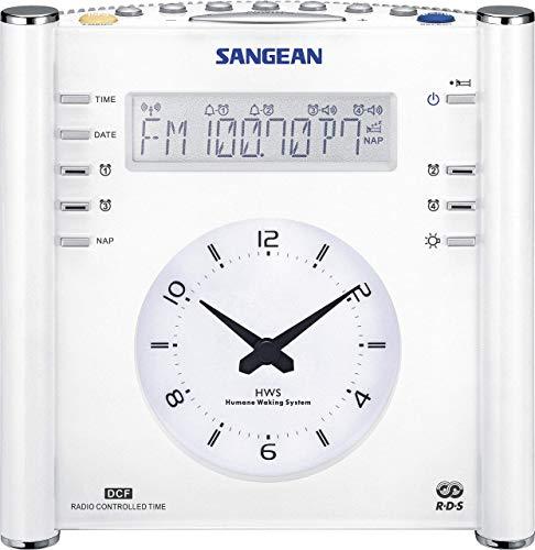 Sangean RCR-3 Radiowecker, Tragbares radio met LCD-display - Weiß