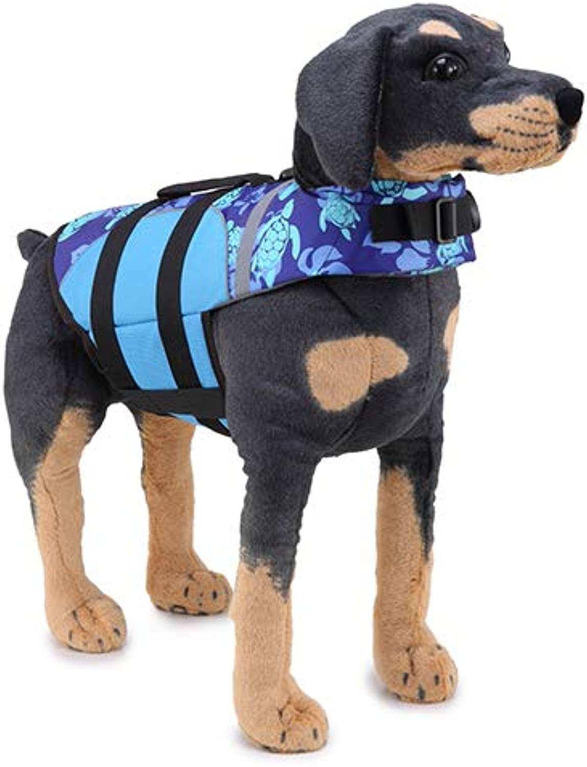 Pet Reflective Swimwear Pet Floating Vest Foldable Portable Life Jacket Suitable Swimming Pool, Beach, Boating Water Safety,S