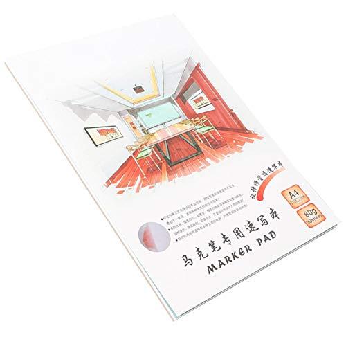 Suministros de arte Artistas Cuadernos de dibujo Papel pesado, para artistas y estudiantes profesionales(A4)