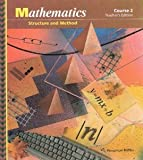 Mathematics: Structure and Method, Course 2, Teacher's Edition, 1992