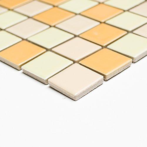 Tessere mosaico bagno in ceramica Mix piazza giallo lucido 6 mm recentemente #240