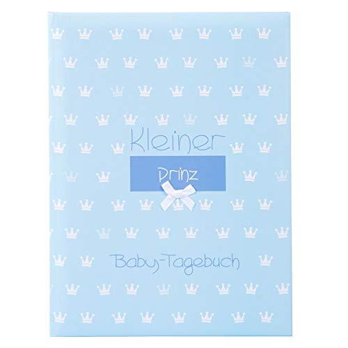 goldbuch Babytagebuch, Kleiner Prinz, 21 x 28 cm, 44 illustrierte Seiten, Kunstdruck mit Relieflack und Accessoires, Blau, 11088