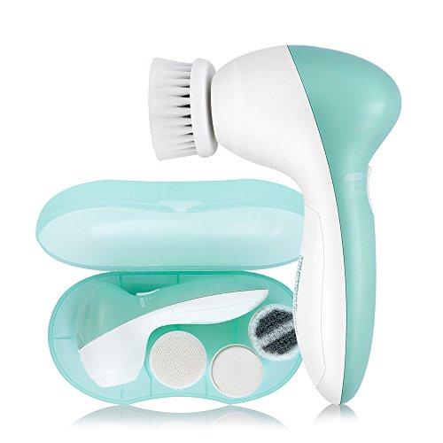 TOUCHBeauty TB-0525A Cepillo Giratorio para Limpieza Facial con 3 Cabezales con Cepillo y Estuche