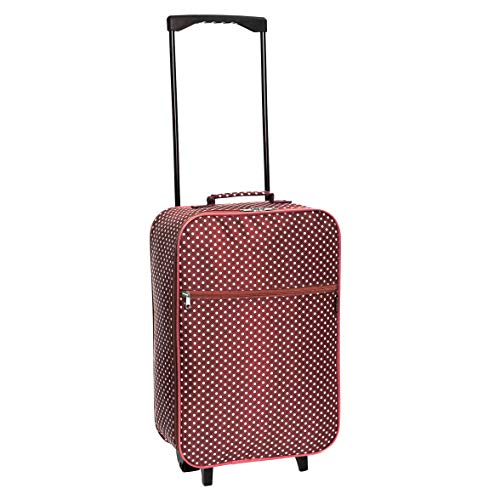 Slimbridge Cabin Carry-on Hand Luggage Suitcase Bag Ultra Lightweight 55 cm 0.95 kg 27 litres 2 Wheels, Barcelona Red Dots