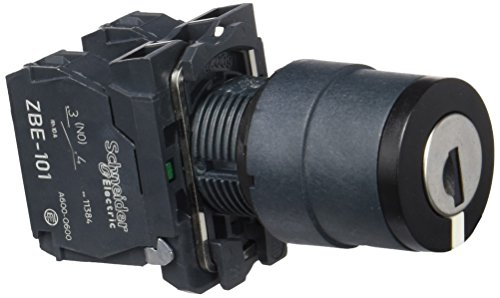 Schneider XB5AG03 Schlüsselschalter Durchmesser 22, 3 Stellungen Rastend, Komplettgerät, Ronis 455, 2S