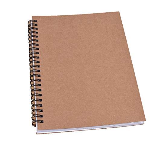 Nubstoer A5 Vertical libreta de Espiral Doble Blocs y Cuadernos de Dibujo para Dibujo Dibujo a lápiz 120 páginas/40 Hojas Rojo