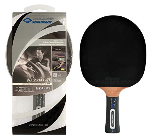 Donic-Schildkröt Tischtennisschläger Waldner 3000, ABP-Griff, 2,1 mm Schwamm, Carbonholz, Liga - ITTF Belag, 751803