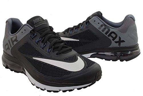 Nike Air Max Excellerate+ 2, Men's Running Shoe. Black/Metallic Silver/Dark Grey/Pure Platinum (8)