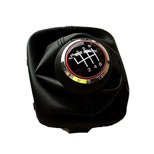 MPOQZI 5 Perilla de Engranaje de Cambio de Coche Manual de 6 velocidades, Apta para Audi A3 S3 8P S-Line