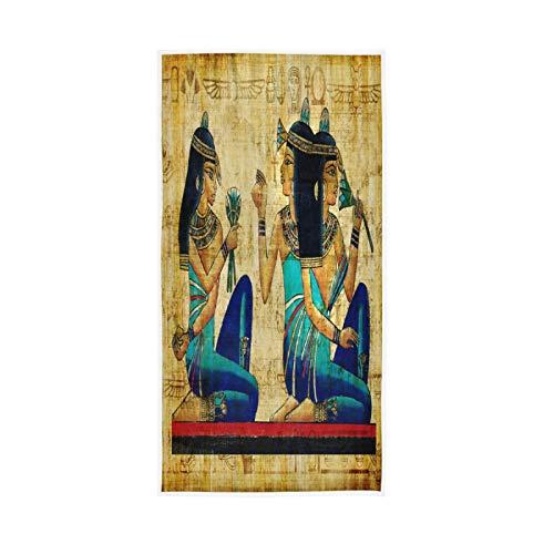 LUCKYEAH - Toallas de mano egipcias para niñas, mujeres, niños, toallas de mano de algodón, suave, absorbente, para casa, hotel, piscina, gimnasio, 76 x 38 cm