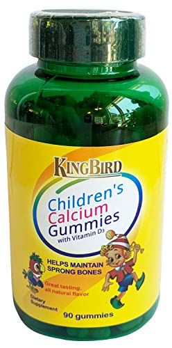 Children's Calcium Chewable Gummies with Vitamin D - Supplement for Adults Kids - Immune System Booster, Immunity Defense, High Absorption - Non GMO, Gluten Free 90 Gummies