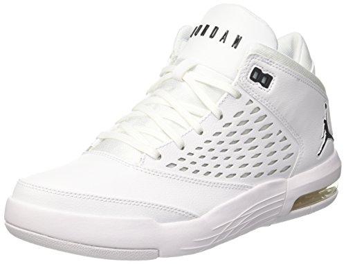 Nike Jordan Flight Origin 4, Scarpe da Basket Uomo, Bianco (Whiteblack 100), 42 EU