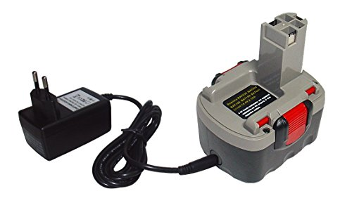 14,40V 1500mAh Li-Ion Compatible pour Bosch 13614-2G, 3454, 13614, 15614, 22614, 23614, 34614, 35614, 52314, 53514, AHS 41, ART 26, GDS 14.4 V, GSB 14.4VE-2B, GLI 14.4V, PAG 14.4V, PDR 14.4V/N, PKS 14.4V, PST 14.4V (inkl. chargeur)