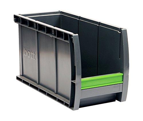bott Sichtlagerkasten bottbox 1.3.165 mit Beschriftungsclip, 24 Stück, 130 x 298 x 165 mm, 13022047.19