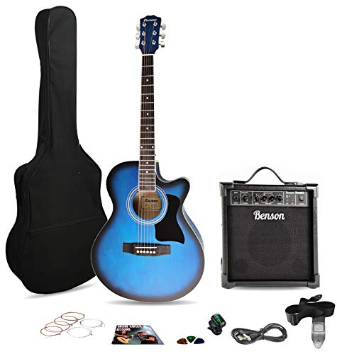 Columbus CW 40' satin BLUEBURST electro electric cutaway Western acoustic...