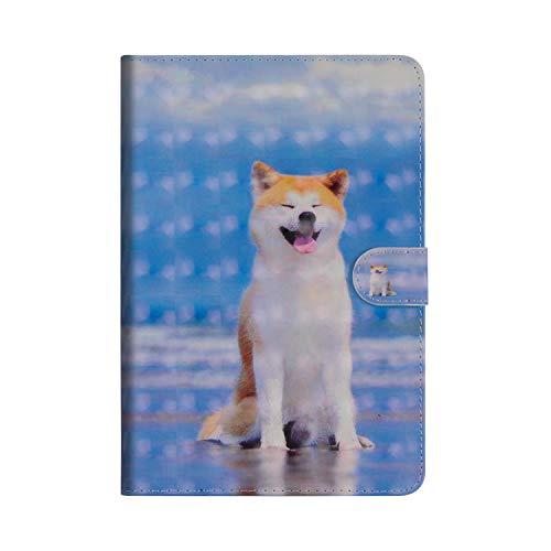 JBGMA000013x-all Samsung Galaxy Tab S3 9.7 hoesje, Samsung Galaxy Tab S3 9.7 Portemonneehouder Smiley Shiba Inu
