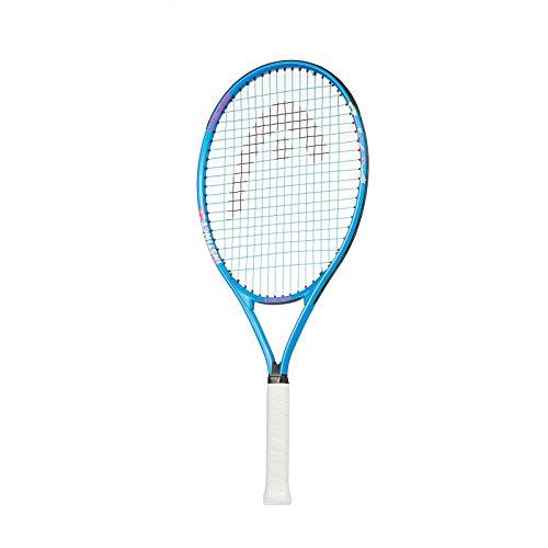 HEAD Instinct Kids Tennis Racquet Beginners Pre-Strung Head Light Balance Jr Racket - 23 Inch, Light Blue/White