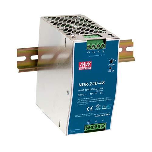 MeanWell AC/DC Fuente de alimentación conmutada para carril DIN montaje 240W 24V NDR de 240–24