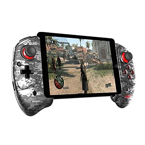 SPFSYF Gamepad Bluetooth Wireless Joystick PUBG Triggs Game Pad Android iOS por TELEVISOR Controlador de Tableta de controla de Caja (Color : Mosaic Camouflage)