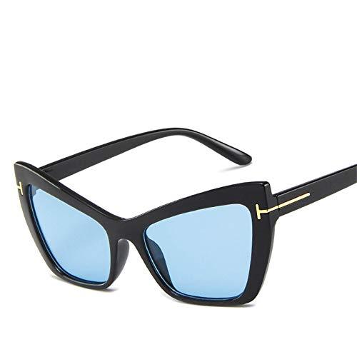 ShZyywrl Gafas De Sol Gafas De Sol De Ojo De Gato Vintage Gafas De Mujer Gafas De Sol De Espejo para Hombre Blackblue