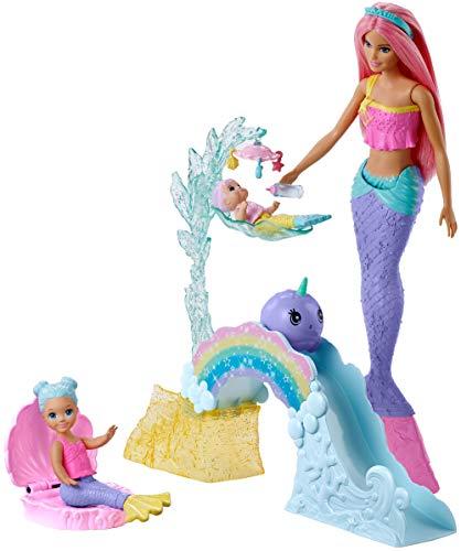 Barbie Dreamtopia Muñeca Sirena con bebés y accesorios (