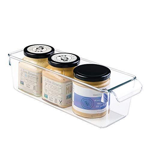iDesign Aufbewahrungsbox mit Griff, kleine Vorratsdose ohne Deckel aus Kunststoff, Küchenorganizer für Vorratsschrank, Kühlschrank und Schublade, durchsichtig