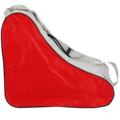 LINVINC Alta qualità Borsa Pattini - Borsa Pattini a Rotelle Skate Bag Borsa per Pattini a Rotelle in Linea Borsa, Rosso, 42 * 20 * 39cm