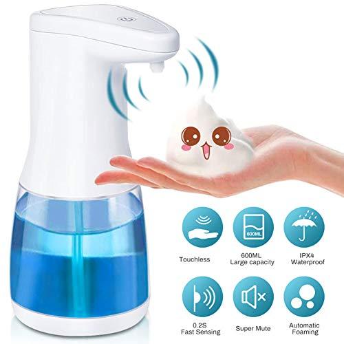 CosHall Automatisch Seifenspender 600ml, Automatisch Schaumseifenspender mit Sensor Infrarot, Keine Berührung Seifenspender für Küchen, Büro, Home, Office, Restaurant, Schule usw.