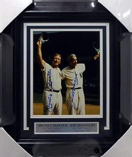 Mickey Mantle & Joe Dimaggio Autographed Framed 8x10 Photo New York Yankees Beckett Bas #A52093
