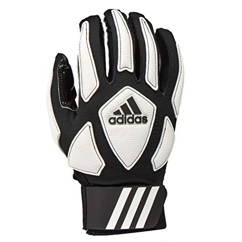 adidas Scorch Destroy 2 Full Finger Football Lineman Glove, Black/White, Small