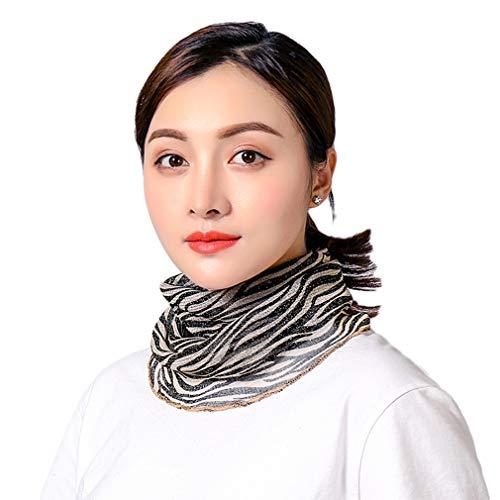 COMVIP Damen Sommer Sonnenschutz Maske Outdoor Kopfbedeckung Halstuch Schal Gr. Einheitsgröße, Zebrastreifen