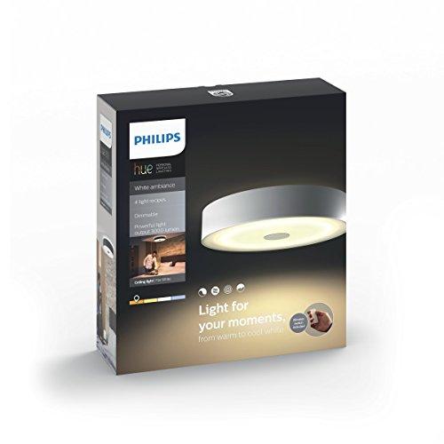 Philips Hue LED Deckenleuchte Fair inkl. Dimmschalter, alle Weißschattierungen, steuerbar auch via App, weiß, 4034031P7 - 2
