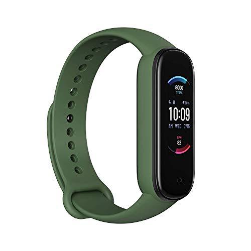 Amazfit Smartwatch Band 5 Fitness- & Aktivitätstracker Armband mit Blutsauerstoff, Herzfrequenz, Schlafüberwachung, Digitale Uhr für Sport (Olive)