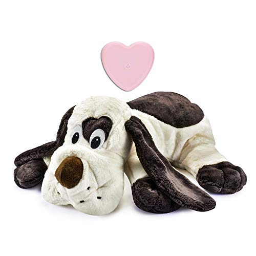 Moropaky Puppy Toy with Heartbeat Dog Training Toy for Separation Anxiety Claming Behavioral aid, Heartbeat Toy Plush Toys for Dogs Cats Pets Puppy Starter Kit
