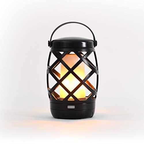 Auraglow Battery Operated Flickering Flame Outdoor Garden Hanging Gazebo Light LED Camping Lantern Table Lamp