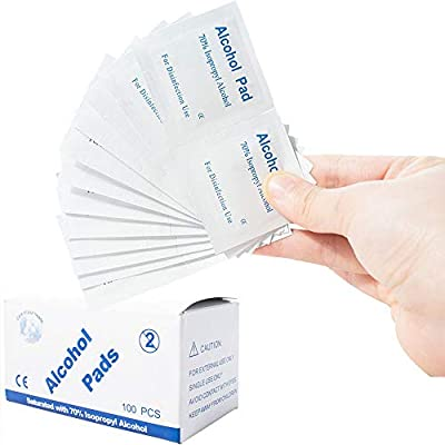 Maylai Box of 100 Disposable Alcohol Pad Disinfection Cotton Wipe Pad for Home Travel Outdoor phone Cleaning Sterilization by Maylai