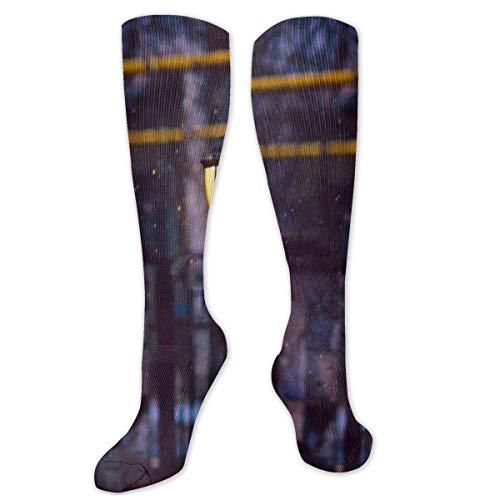 Compressie sokken voor mannen en vrouwen - het beste voor hardlopen, atletische sporten, spataderen, reizen verlichting sneeuwlichten hek licht sneeuwvlok