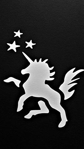 Chase Grace Studio Unicorn My Little Pony Inspired Vinyl Decal Sticker|White|Cars Trucks Vans SUV Laptops Wall Art|5.5' X 4.5'|CGS655