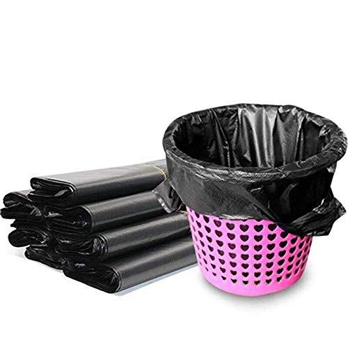 Cfbcc Haushalts Schwarze Weste tragbaren Müllsack Verdickungshotel Haushalt Plastiksack Caddie Barrel Liner 50 Pack