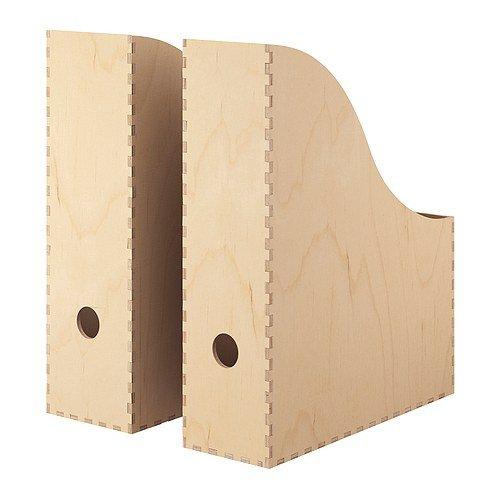 Ikea Knuff Lot de 2 Range-revues en Bois 9 x 24 x 31 cm et 10 x 25 x 31 cm