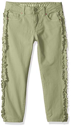 Gymboree Girls' Big Ruffle Skinny Jean, Four Leaf Clover, 7