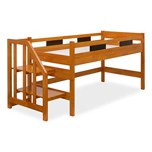 ロフトベッド 木製 Oise Loft Step(オワーズ ロフトステップ) 耐荷重700kg 耐震仕様 (ライトブラウン×ブラ...
